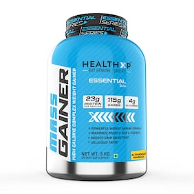HealthXP Mass Gainer Protein 3kg Alphanso Mango (Pack Of 1)