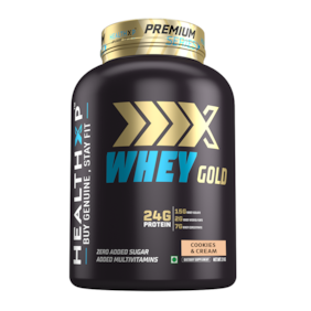 HealthXP Premium Series Whey Gold 2kg Cookies & Cream