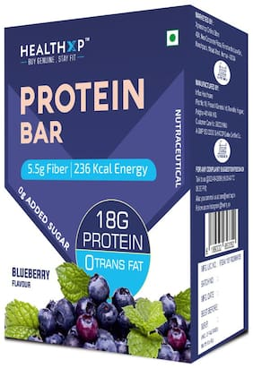 HealthXP Protein Bars Pack of 1 ( 60g x 6 ) - Blueberry