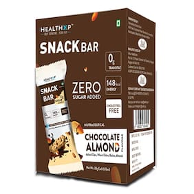 Healthxp Snack bar Chocolate Almond 30g ( Pack of 6 )