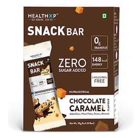 Healthxp Snack bar Chocolate Caramel 30g ( Pack of 6 )