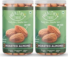 dry fruit , california almond, roasted snack, roasted almond, premium dryfruit ,roasted almonds salted , badam