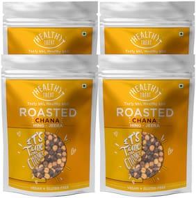 Healthy Treat Roasted Chana   Hing Jeera | Gluten Free Vegan 200g (Pack Of 4)
