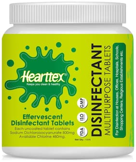 Hearttex Disinfectant Multipurpose Tablets 100 Tablets (Pack Of 1)