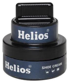 Helios Shoe cream glass jar (Black)48gm