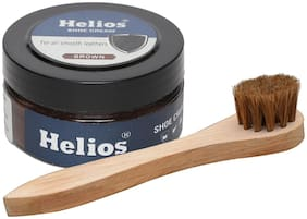 Helios Shoe Cream Brown combo1 100gm