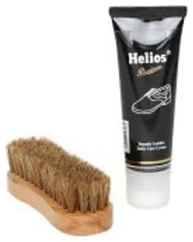 Helios Smooth Leather Shoe care kit-Black200gm