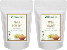 HENNAHUB Natural Amla Powder for Hair (Indiangoosebery Powder) , Natural Organic Leaves Herbs, Hair Strengthening, Shine, Conditioning, Pack of 2 each 200g