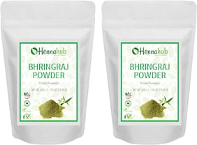 HENNAHUB Natural Bhringraj Powder for Hair, Natural Organic Leaves Herbs, Hair Strengthening, Shine, Conditioning, Pack of 2 each 200g