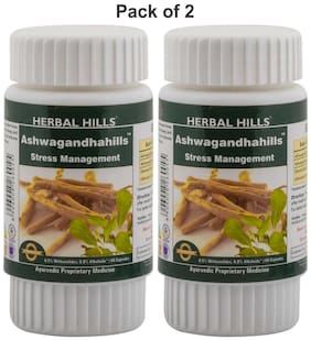 Herbal Hills Ashwagandhahills 60 Capsule (Pack Of 2) Immunity/Immunity Booster