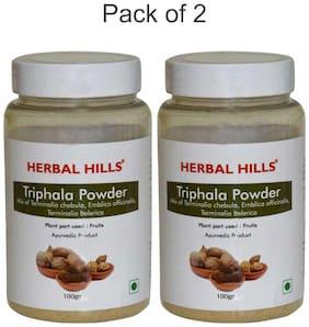 Herbal Hills Triphala Powder - 100 g (Pack of 2) Natural Triphala Churna blend (Amla;Harad;Baheda) - Healthy Digestion