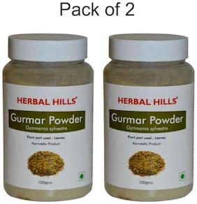 Herbal Hills Gurmar Powder - 100 g (Pack of 2) Gudmar Natural Sugar Balance Powder Gymnema Madhunashini