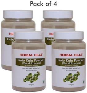 Herbal Hills Gotu Kola powder - 100 g (Pack of 4)