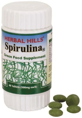 Herbal Hills Spirulina 60 Tablets