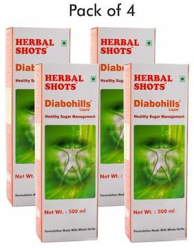 Herbal Hills Diabohills Herbal Shots 500ml (Pack of 4)