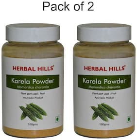 Herbal Hills Karela Powder - 100 g Each - Pack Of 2
