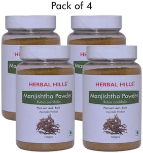 Herbal Hills Manjishtha Powder - 100 g (Pack of 4)