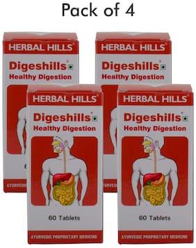 Herbal Hills Digeshills 60 Tablets - Pack of 4