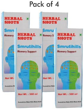 Herbal Hills Smrutihills Herbal Shots 500ml (Pack of 4)