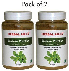 Herbal Hills Brahmi Powder - 100 G Powder - Pack Of 2