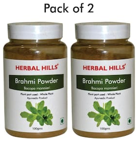 Herbal Hills Brahmi Powder - 100 G Powder - Pack Of 2