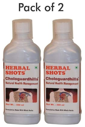 Herbal Hills Chologuardhills Herbal Shots 500 ml (Pack of 2)