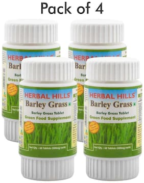 Herbal Hills Barley  Grass 60 Tablets (Pack of 4)