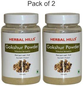 Herbal Hills Gokshur Powder - 100 G Powder - Pack Of 2