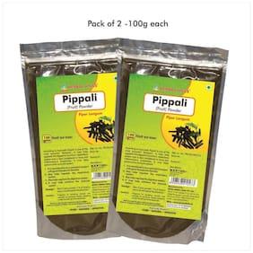Herbal Hills Pippali Fruit Powder - 100 G Powder - Pack Of 2