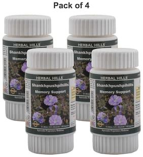 Herbal Hills Shankhpushpihills 60 Capsules (Pack of 4)