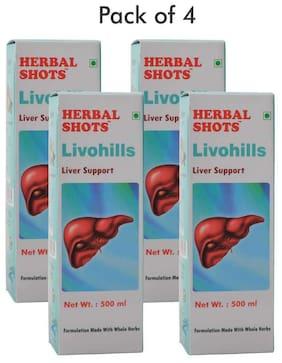Herbal Hills Livohills Herbal Shots 500ml (Pack of 4)