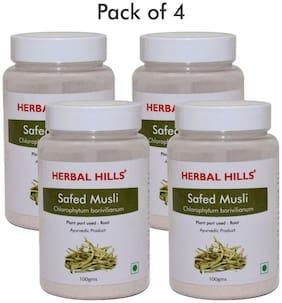 Herbal Hills Safed Musli powder - 100 g powder - Pack of 4