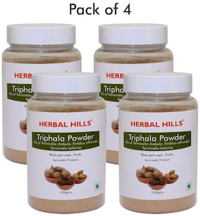 Herbal Hills Triphala Powder - 100 g  (Pack of 4)