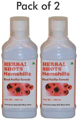 Herbal Hills Hemohills Herbal Shots 500 ml (Pack of 2)