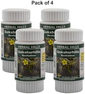 Herbal Hills Gokshurhills 60 Capsules (Pack of 4)