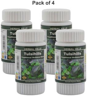 Herbal Hills Tulsihills 60 Capsules (Pack of 4)