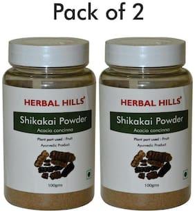 Herbal Hills Shikakai Powder - 100 g Powder - Pack Of 2