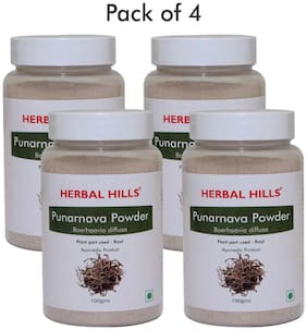 Herbal Hills Punarnava Powder - 100 g (Pack of 4)