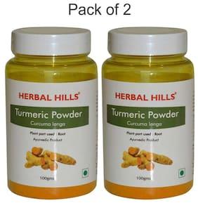 Herbal Hills Turmeric Powder - 100 G Powder - Pack Of 2