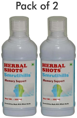 Herbal Hills Smrutihills Herbal Shots 500 ml (Pack of 2)