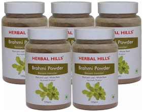 Herbal Hills Brahmi Powder - 100 g (Pack of 5)