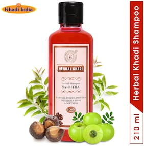 Herbal Khadi Satreetha Deep Cleansing Herbal Shampoo For Soft;Smooth & Shiny Hair/Moisturized Conditioned -210ml (Pack of 1)