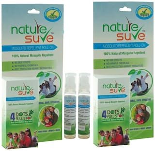 Herbal Mosquito Repellent Roll On (Pack of 2)- Natural, Safe & Effective with Lemon Grass and Nilgiri Oil