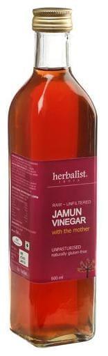 Herbalist Jamun Cider Vinegar - Raw Unprocessed Unrefined With Mother 500 ml