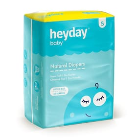 Heyday Organic & Natural Baby Diapers Small 50 pcs (Pack of 1)