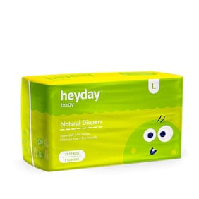 Heyday Organic & Natural Baby Diapers Large 7 pcs (Pack of 1)