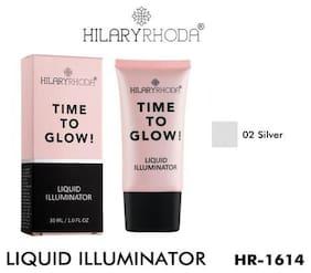 Hilary Rhoda Time To Glow Liquid Illuminator Silver;Hr-1614 (2) 30 ml ( Pack of 1 )