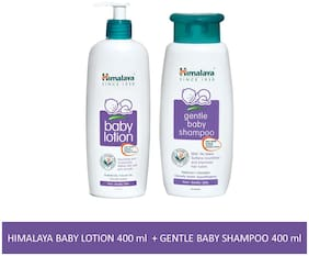 Himalaya Baby Combo Pack (1 Baby Lotion and 1 Baby Shampoo) Pack of 2