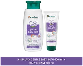 Himalaya Baby Combo Pack (1 Baby Cream and 1 Baby Bath) Pack of 2
