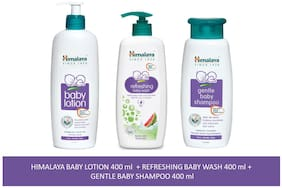 Himalaya Baby Combo Pack (1 Baby Lotion, 1 Baby Shampoo and 1 Baby Wash) Pack of 3